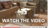 How to use NextStage home staging cardboard furniture to save time, money, and energy